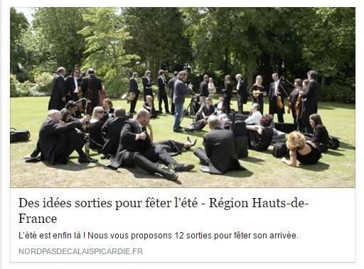 Idées sorties en Hauts-de-France pendant l'été