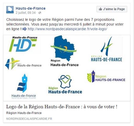 Votez pour le logo Hauts-de-France