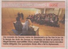 17-03-06 S10 Les femmes maires à Guise......(L'Aisne Nlle.)