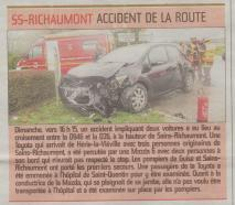 17-03-06 S10 Sains-Richt. Accident de la route......(L'Aisne Nlle.)