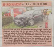 17-03-06 S10 Sains-Richt. Accident de la route......(L'Aisne Nlle.)