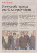 17-03-06 S10 St-Gobert. Seconde jeunesse pour la salle polyvalente......(L'Aisne Nlle.)