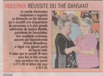17-03-16 S11 Voulpaix. Thé dansant......(L'Aisne Nlle.)