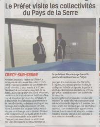17-03-26 S13 Crécy-sur-Serre. Le Préfet visite les collectivités....(La Thiérache)