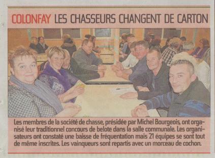 17-03-30 S13 Colonfay. Les chasseurs......(L'Aisne Nlle.)