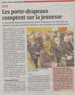 17-04-01 S13 Guise. Assemblée départementale des porte-drapeaux.....(L'Aisne Nlle.)