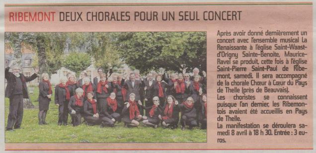 17-04-01 S13 Ribemont. Deux chorales pour un concert......(L'Aisne Nlle.)