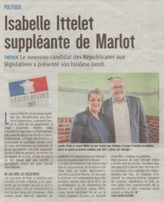 17-05-15 S20 Isabelle suppléante de Marlot....(L'Union du 17)