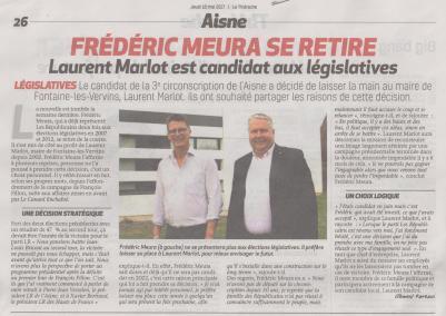 17-05-15 S20 Législatives. Frédéric Meura et Laurent Marlot....(La Thiérache du 18)