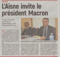 17-05-16 S20 L'Aisne invite le président Macron....(L'Aisne Nlle du 20.)