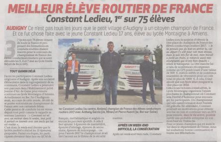 17-05-18 S20 Audigny. Meilleur élève routier de France....(La Thiérache)