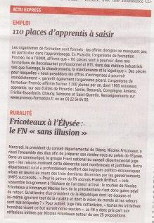 17-09-14 S37 Emploi et Fricoteaux à l'Elysée....(L'Aisne Nlle.)