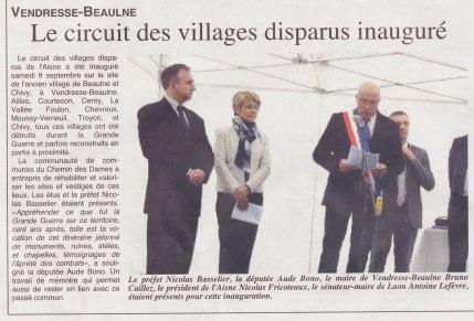 17-09-14 S37 Le circuit des villages disparus inauguré....(L'Axonais)