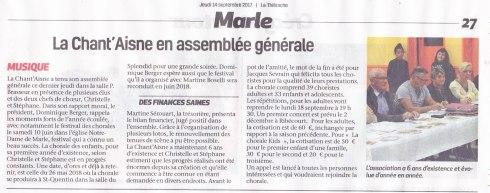 17-09-14 S37 Marle. Chant'Aisne.....(La Thiérache)
