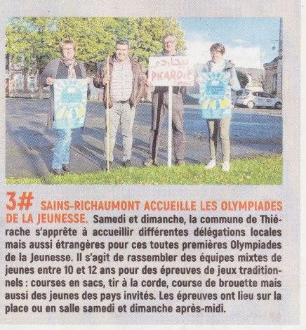 17-09-18 S38 Sains-Richt. Les olympiades de la jeunesse....(L'Aisne Nlle.)
