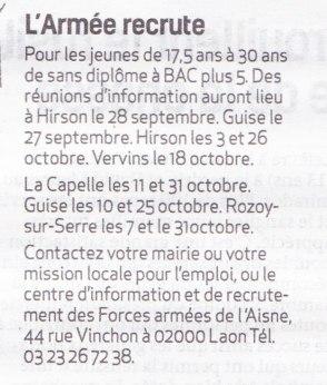 17-09-21 S38 L'Armée recrute....(La Thiérache)