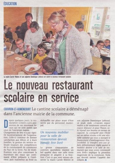 17-09-24 S39 Couvron-et-Aumencourt. Nouveau restaurant scolaire....(L'Union)