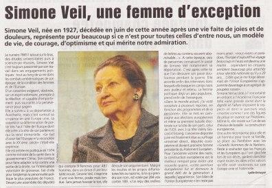 17-09-28 S39 Simone Veil....(L'Agriculteur du 22-09)