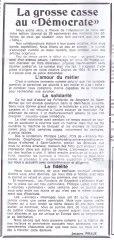 17-10-10 S41 Grosse casse au Démocrate....(Le Démocrate du 06-10)