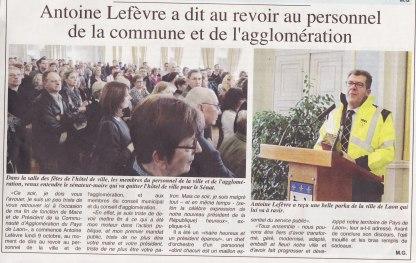 17-10-12 S41 A.Lefévre quitte la mairie pour le sénat....(L'Axonais)