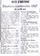 17-10-13 S41 Elections cantonales 1967....(Le Démocrate)