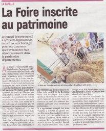 17-10-16 S42 La Capelle. La Foire inscrite au patrimoine....(L'Aisne Nlle.)