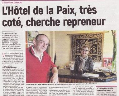 17-10-17 S42 Le Nouvion-en-Thiérache. L'Hôtel de la Paix cherche repreneur....(L'Aisne Nlle.)