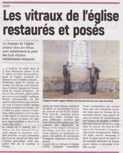 17-10-17 S42 Lerzy. Vitraux restaurés....(L'Aisne Nlle.)