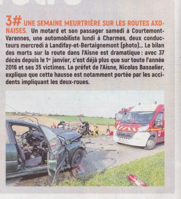 17-10-21 S42 Semaine meurtrière sur les routes axonaises....(L'Aisne Nlle.)