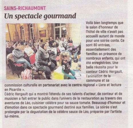 17-11-20 S47 Sains-Richt. Spectacle gourmand ....(L'Aisne Nlle.)