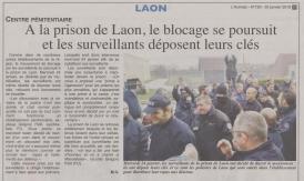 18-01-25 S 04 Blocage à la prison de Laon....(L'Axonais )
