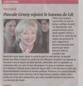 18-01-29 S 05 Pascale Gruny rejoint le bureau de LR.....(L'Aisne Nlle)