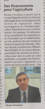18-02-02 S 05 N.Fricoteaux. Des financments pour l'agriculture....(L'agriculteur)
