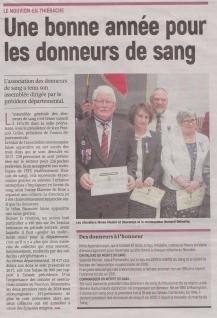 18-03-13 S 11 Le Nouvion-en-Thiérache. Les donneurs de sang.....(L'Aisne Nlle)
