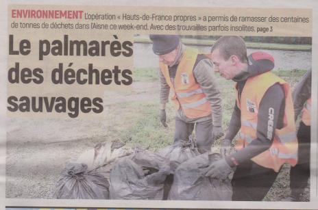 18-03-19 S 12 Palmarès des déchets sauvages.....(L'Aisne Nlle)