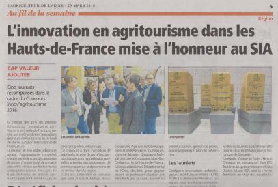 18-03-23 S 12 Innovation en agritourisme.....(L'Agriculteur)