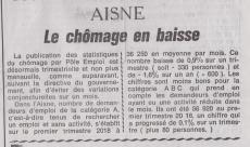 18-05-17 S 20 Baisse du chômage dans l'Aisne.....(Le Démocrate du 4-05)