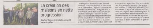 18-05-18 S 20 Gaylord Camus a présenté son entreprise.....(La Thiérache du 17 )