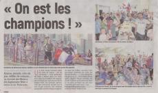 18-07-16 S 29 On est les champions. .....(L'Aisne Nlle )