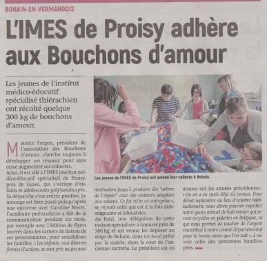 18-07-19 S 29 IMES de Proisy et bouchons d'amour. .....(L'Aisne Nlle )