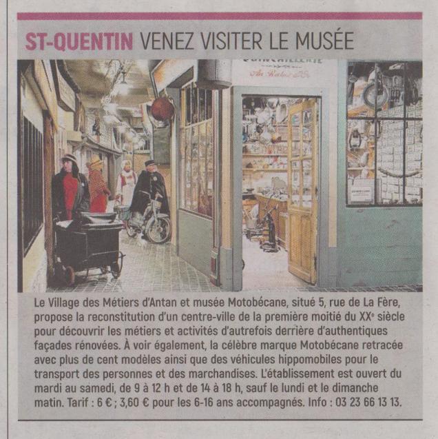 18-08-04 S 31 St Quentin. Venez visiter le musée.....(L'Aisne Nlle )