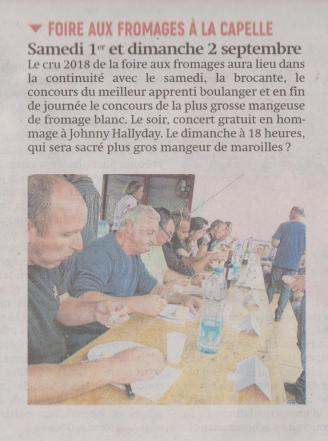 18-08-21 S 34 Foire aux fromages à la capelle.....(L'Aisne Nlle )