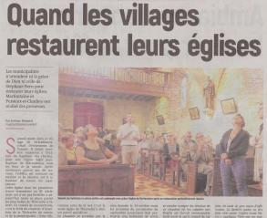 18-08-24 S 34 Marfontaine et Puisieux restaurent leurs églises.....(L'Aisne Nlle )