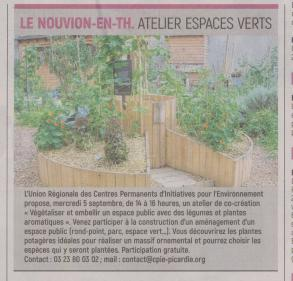 18-08-25 S 34 Le Nouvion-en Thiérache. Atelier espaces verts.....(L'Aisne Nlle )