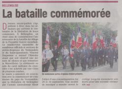 18-09-06 S 36 Bellenglise. La bataille commémorée.....(L'Aisne Nlle )