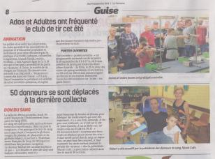 18-09-06 S 36 Guise. Animations et Don du sang.....(La Thiérache )
