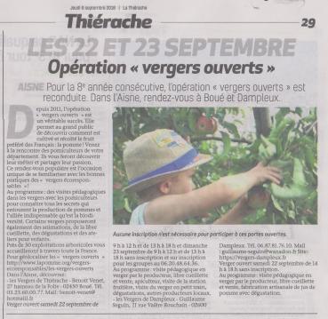 18-09-06 S 36 Opération vergers ouverts.....(La Thiérache )