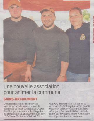 18-09-10 S 37 Ss-Richt. Nlle association Les Trapistes.....(La Thiérache )