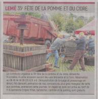 18-09-17 S 38 Lemé. Fête du cidre....(L'Aisne Nlle.)
