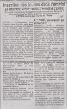 18-09-25 S 39 Insertion des jeunes dans l'emploi.....(Le Démocrate du 21)